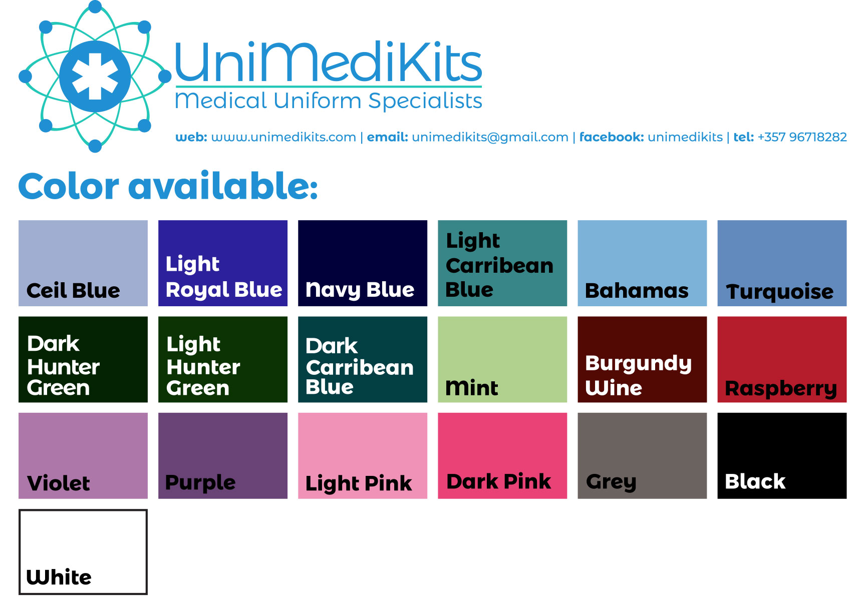 Unimedikits - Available Colors